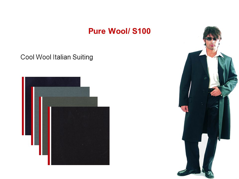 Pure Wool/ S100 Cool Wool Italian Suiting