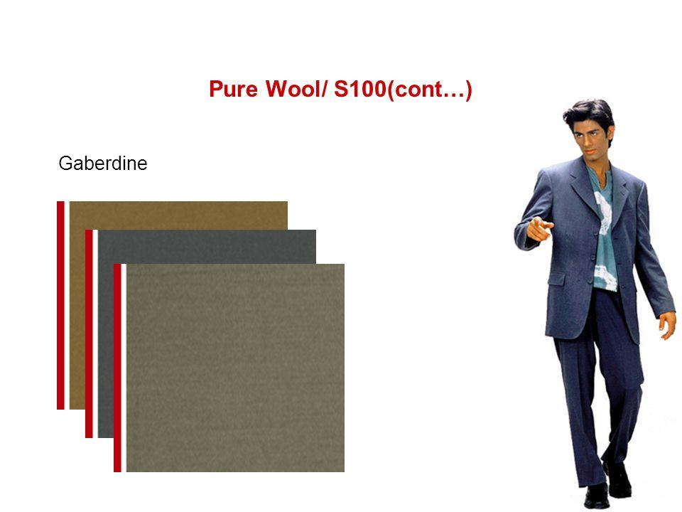 Pure Wool/ S100(cont…) Gaberdine