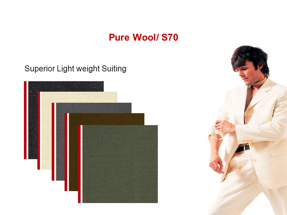 Pure Wool/ S70 Superior Light weight Suiting