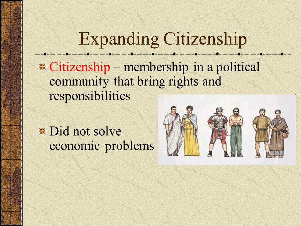 Expanding Citizenship