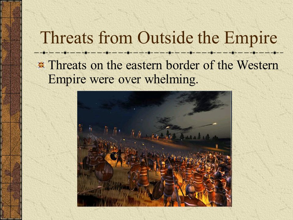 Threats from Outside the Empire