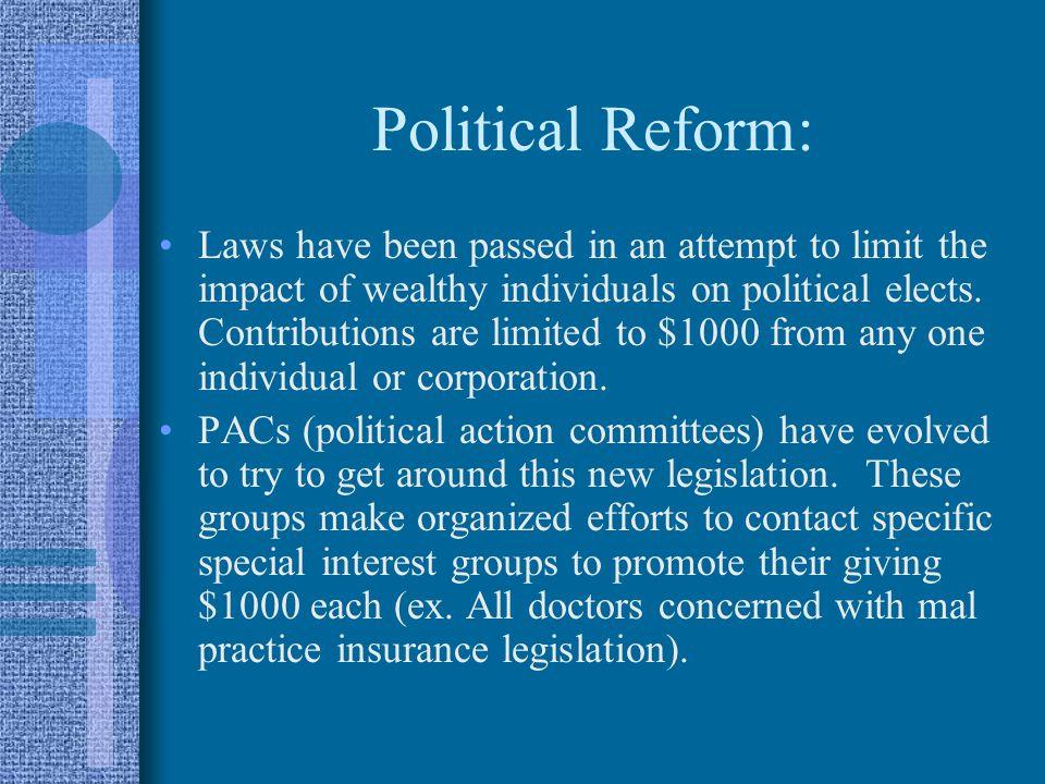 Political Reform: