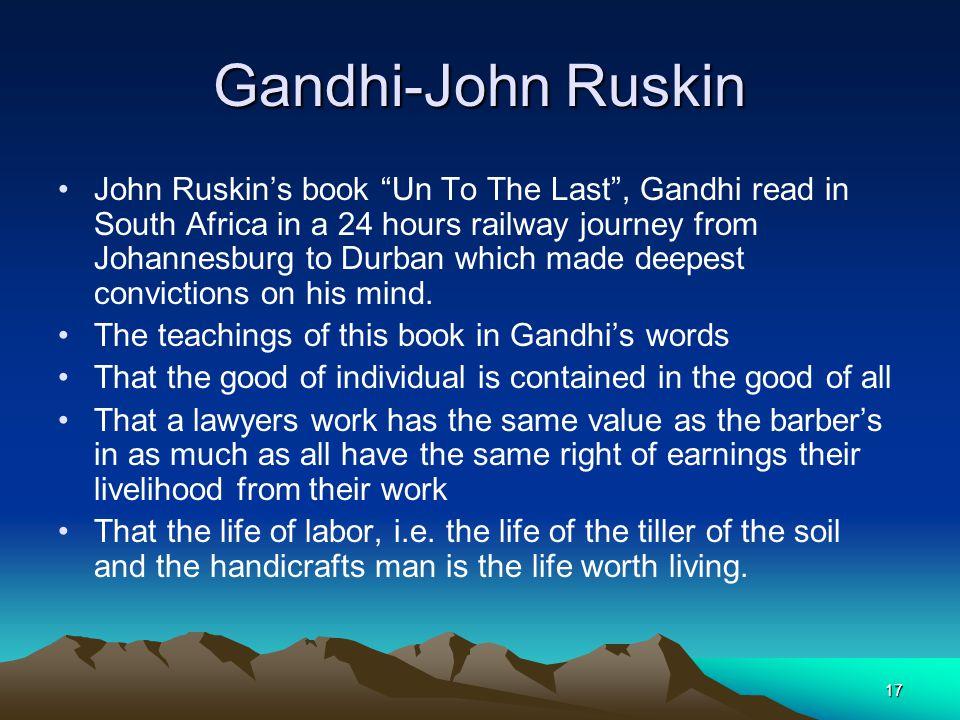 Gandhi-John Ruskin