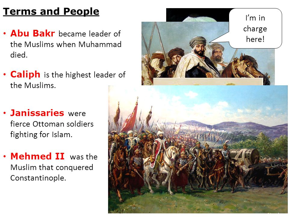 Abu Bakr became leader of the Muslims when Muhammad died.