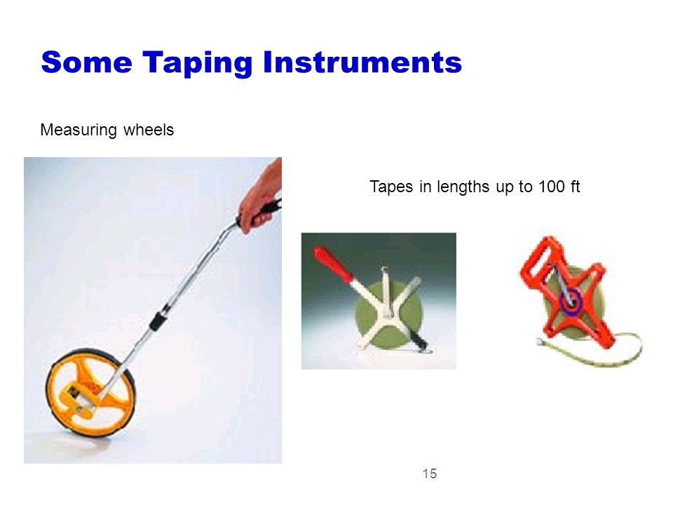 Some Taping Instruments