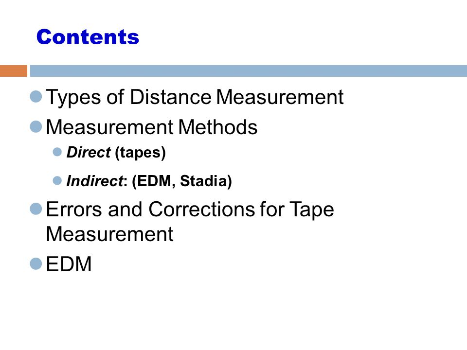 Types of Distance Measurement Measurement Methods