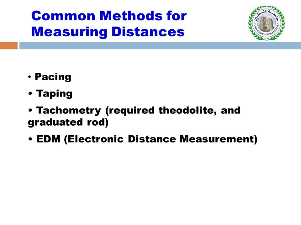 Common Methods for Measuring Distances
