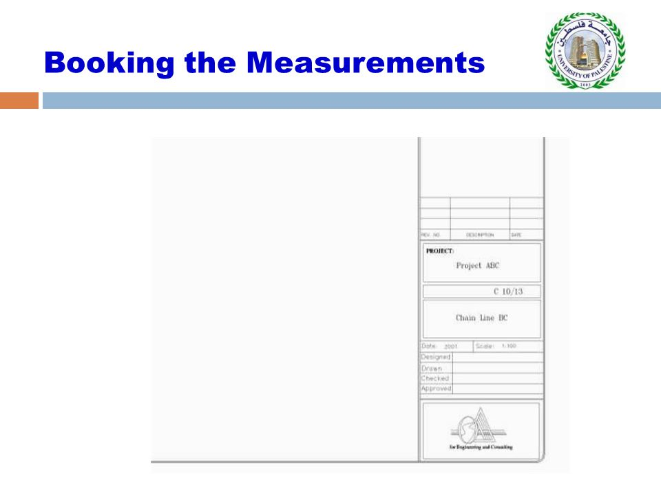 Booking the Measurements