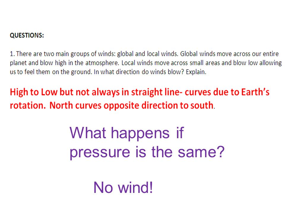 What happens if pressure is the same