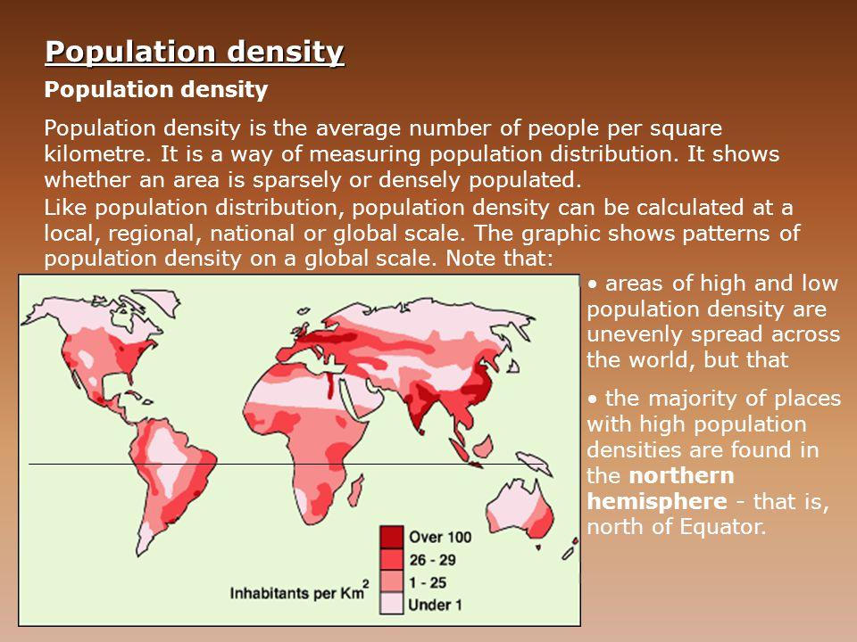 Population density Population density