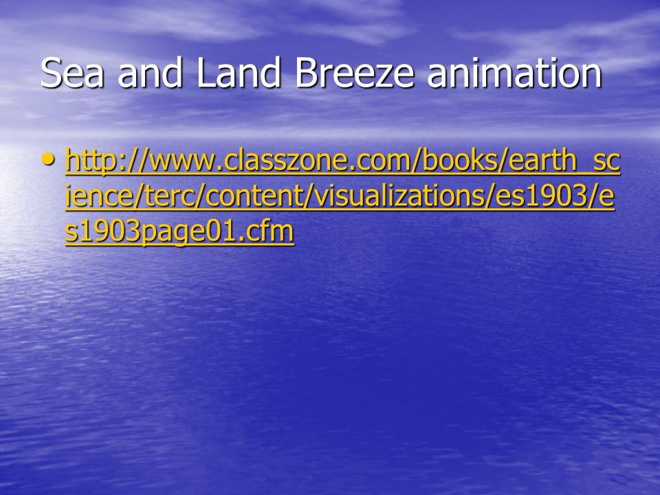 Sea and Land Breeze animation