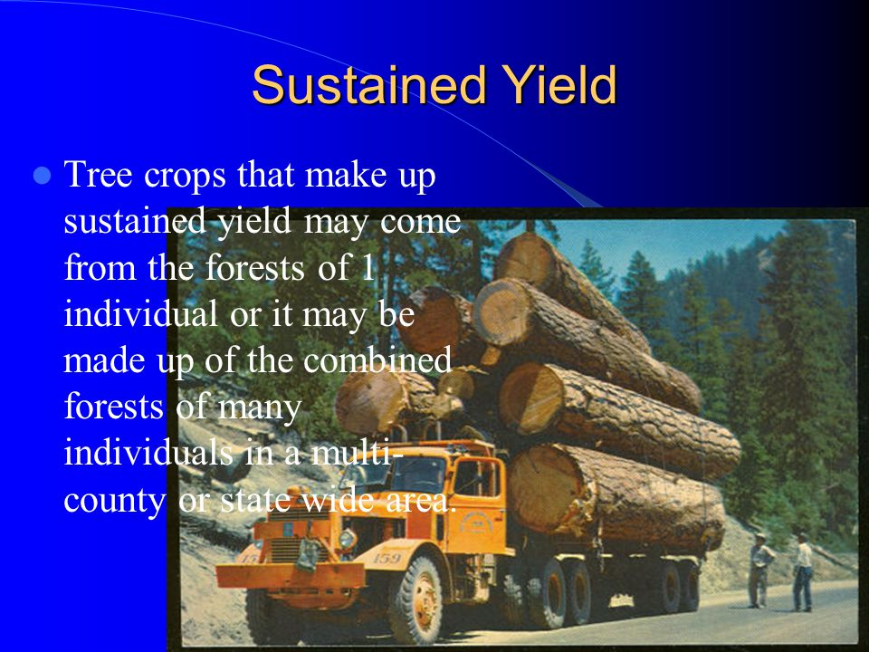Sustained Yield
