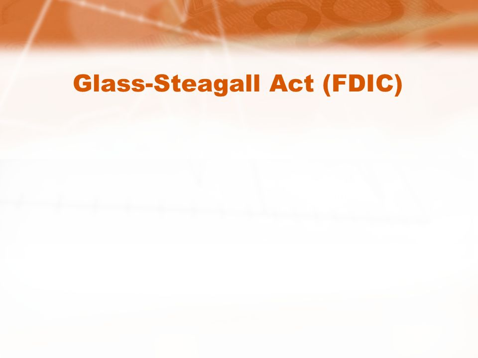 Glass-Steagall Act (FDIC)