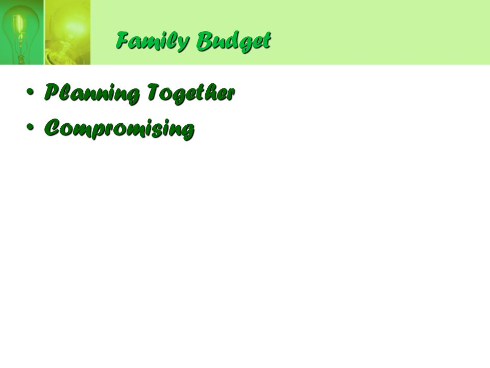 Family Budget Planning Together Compromising