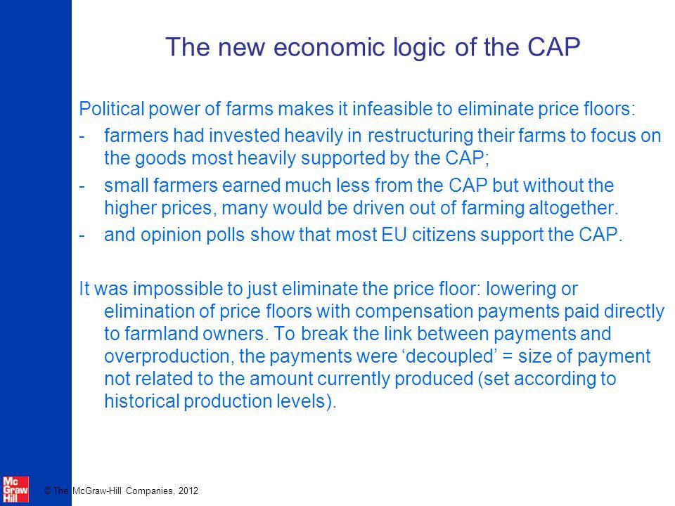 The new economic logic of the CAP