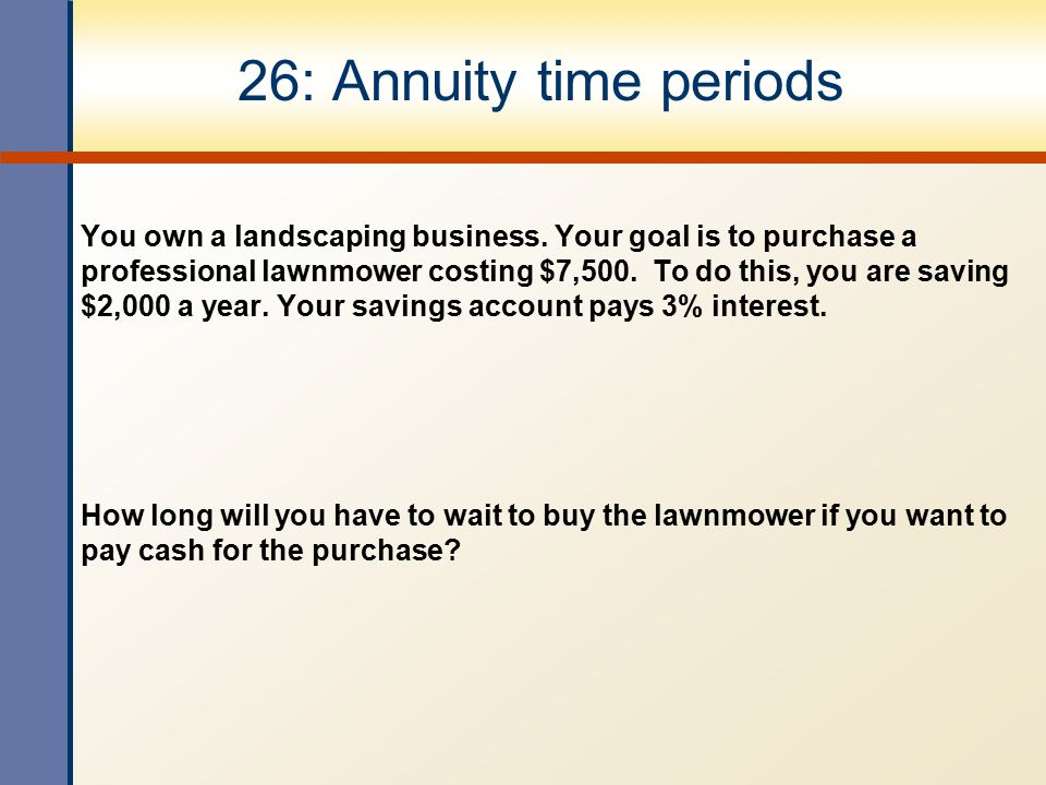 26: Annuity time periods