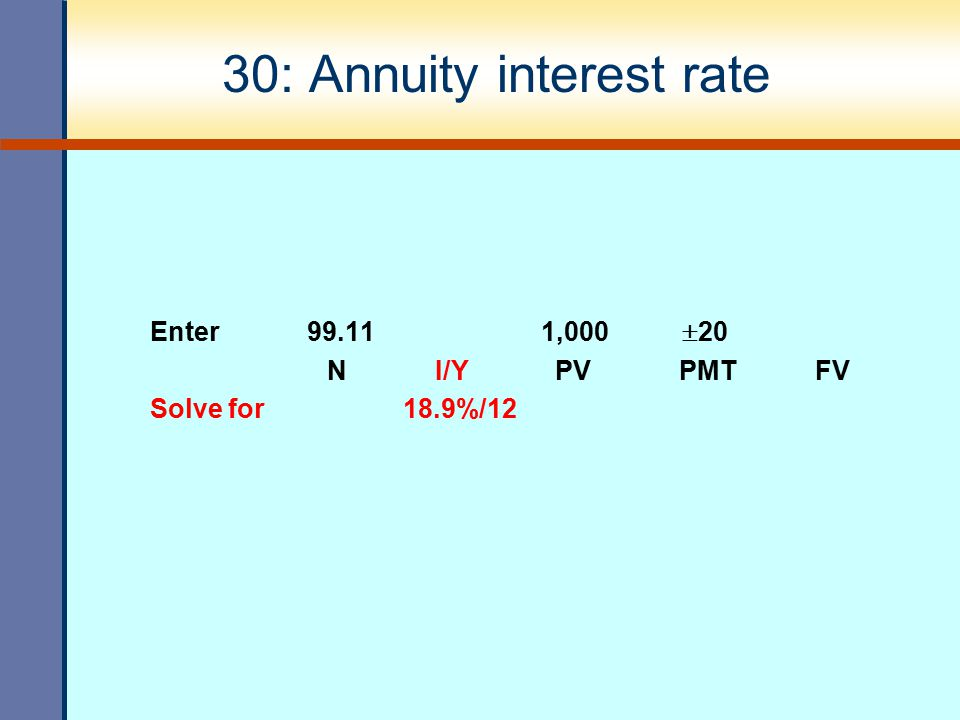 30: Annuity interest rate