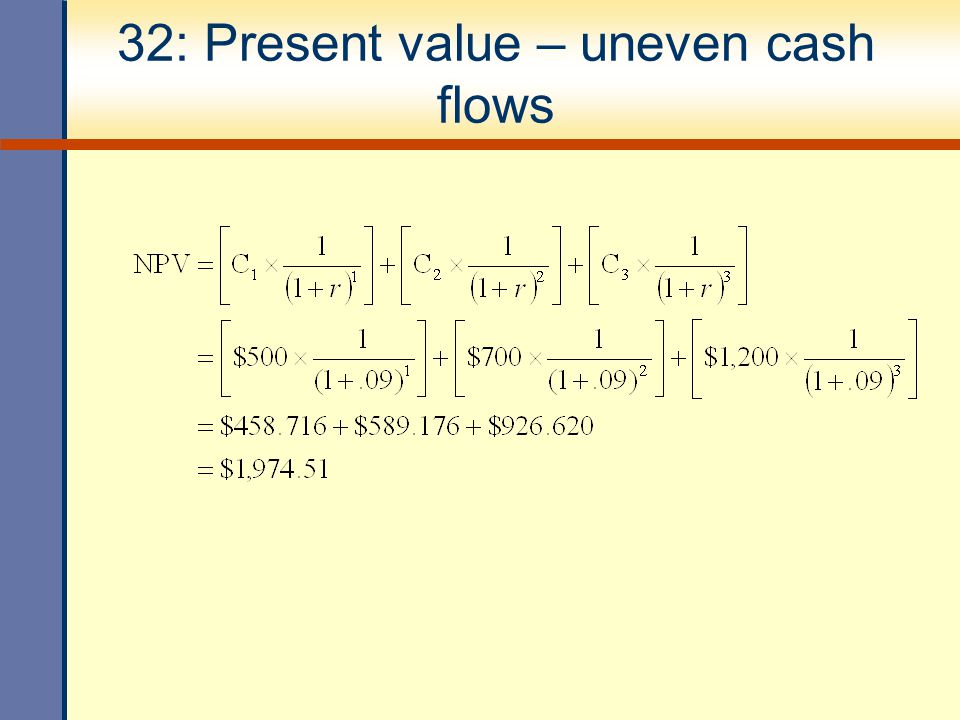 32: Present value – uneven cash flows