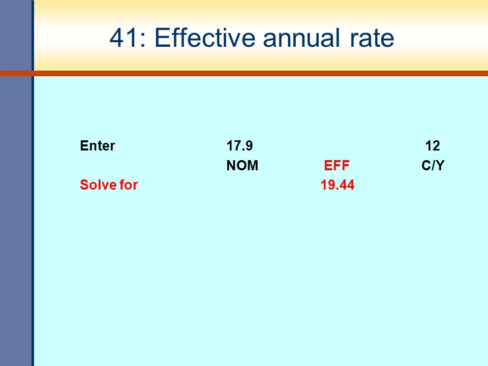 41: Effective annual rate