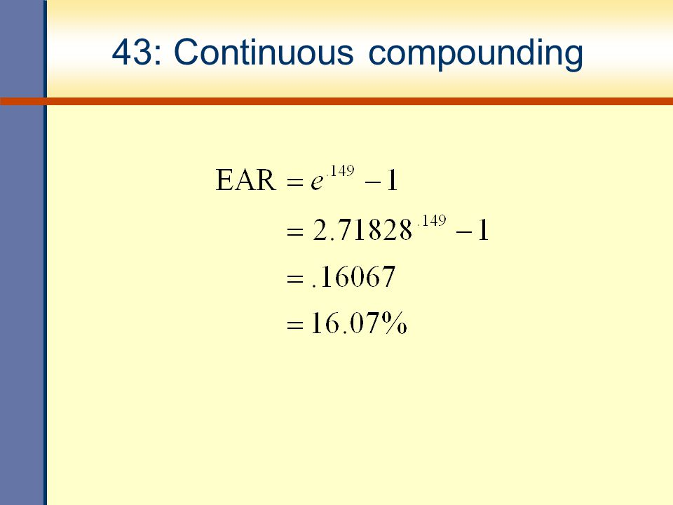 43: Continuous compounding