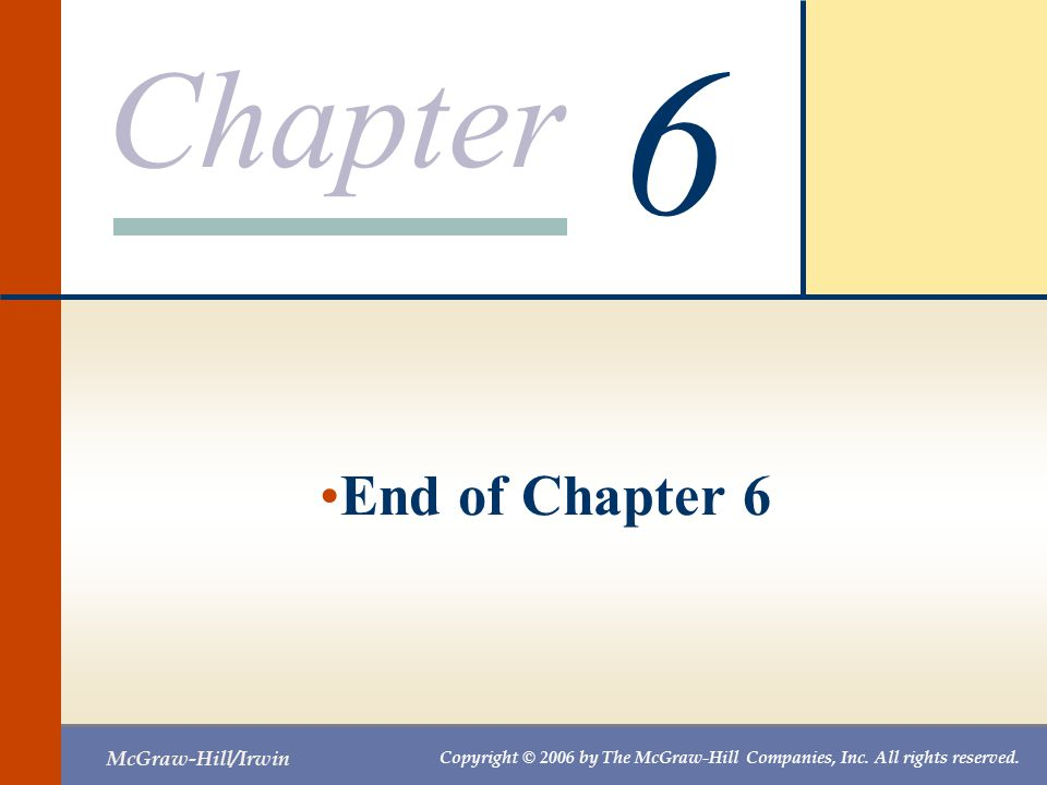 6 End of Chapter 6