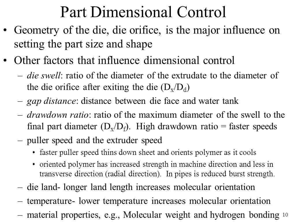 Part Dimensional Control