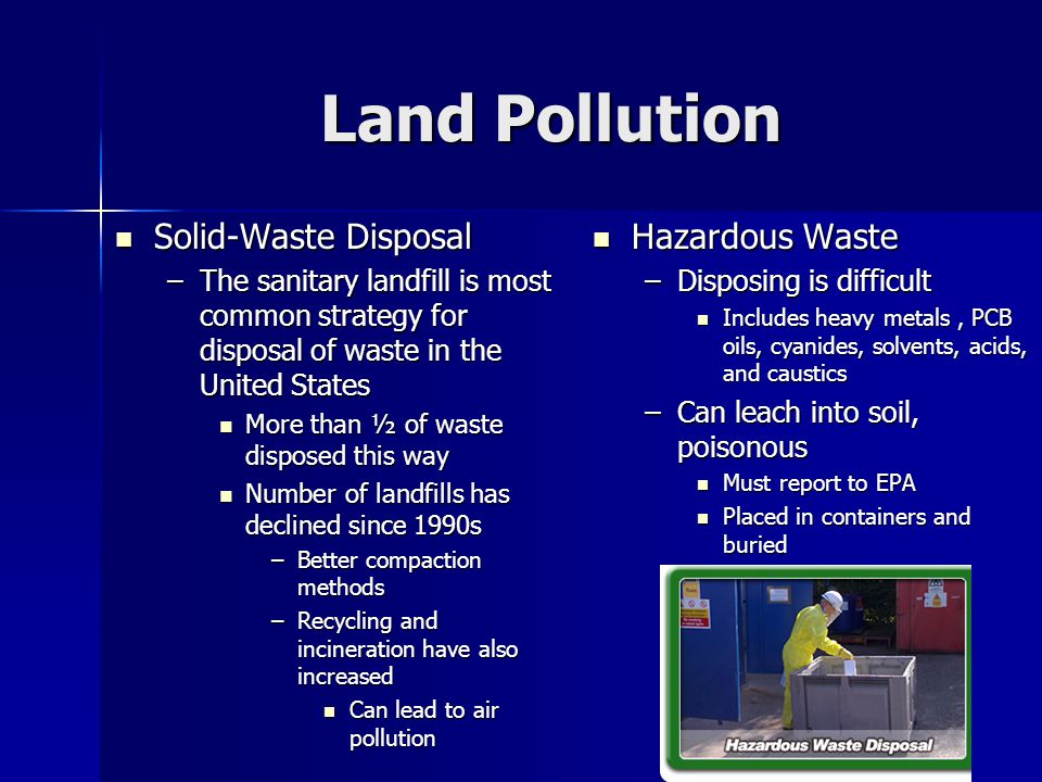 Land Pollution Solid-Waste Disposal Hazardous Waste