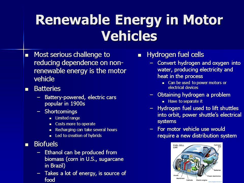 Renewable Energy in Motor Vehicles