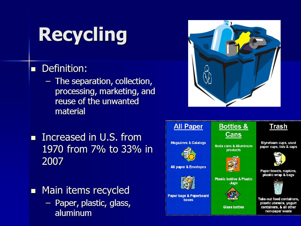 Recycling Definition: