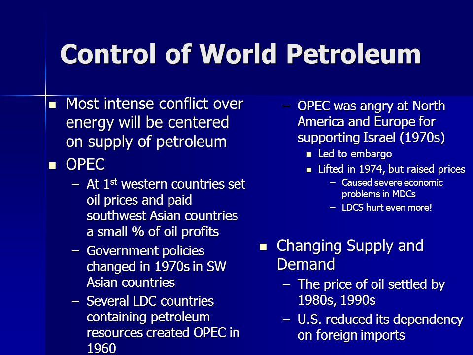 Control of World Petroleum