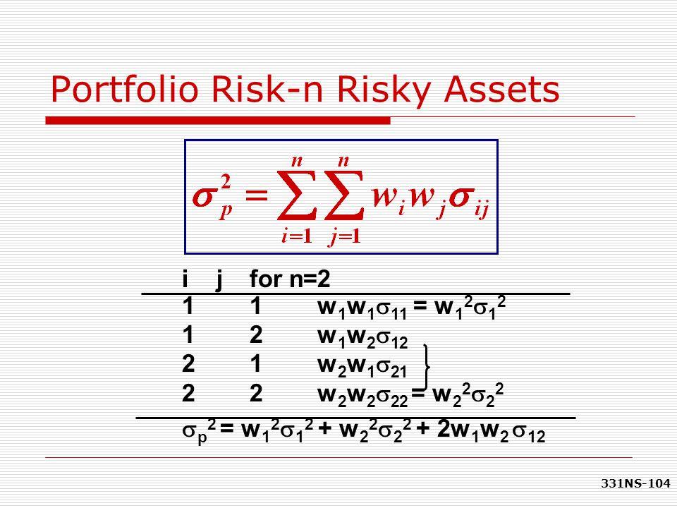 Portfolio Risk-n Risky Assets