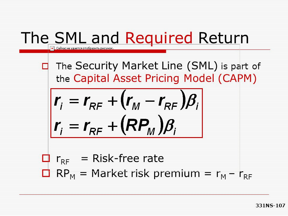 The SML and Required Return