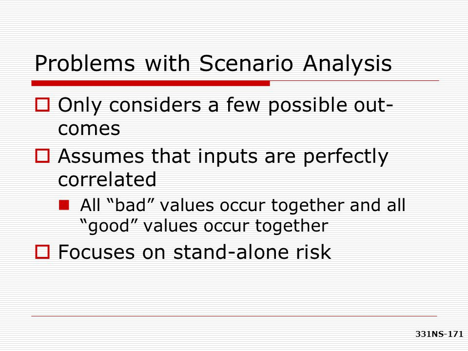 Problems with Scenario Analysis