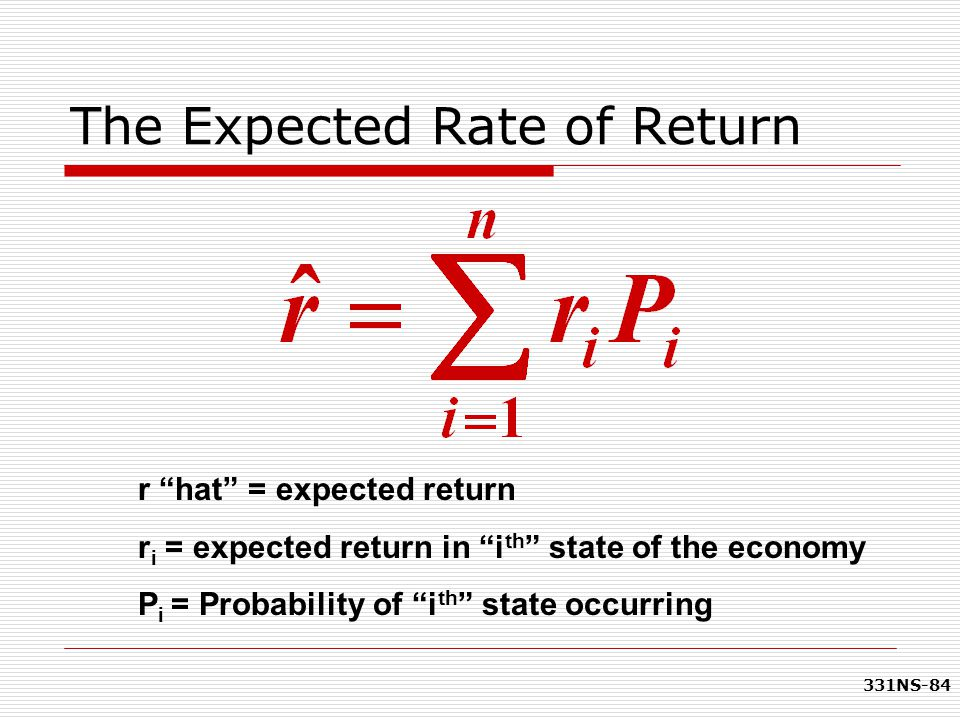 The Expected Rate of Return