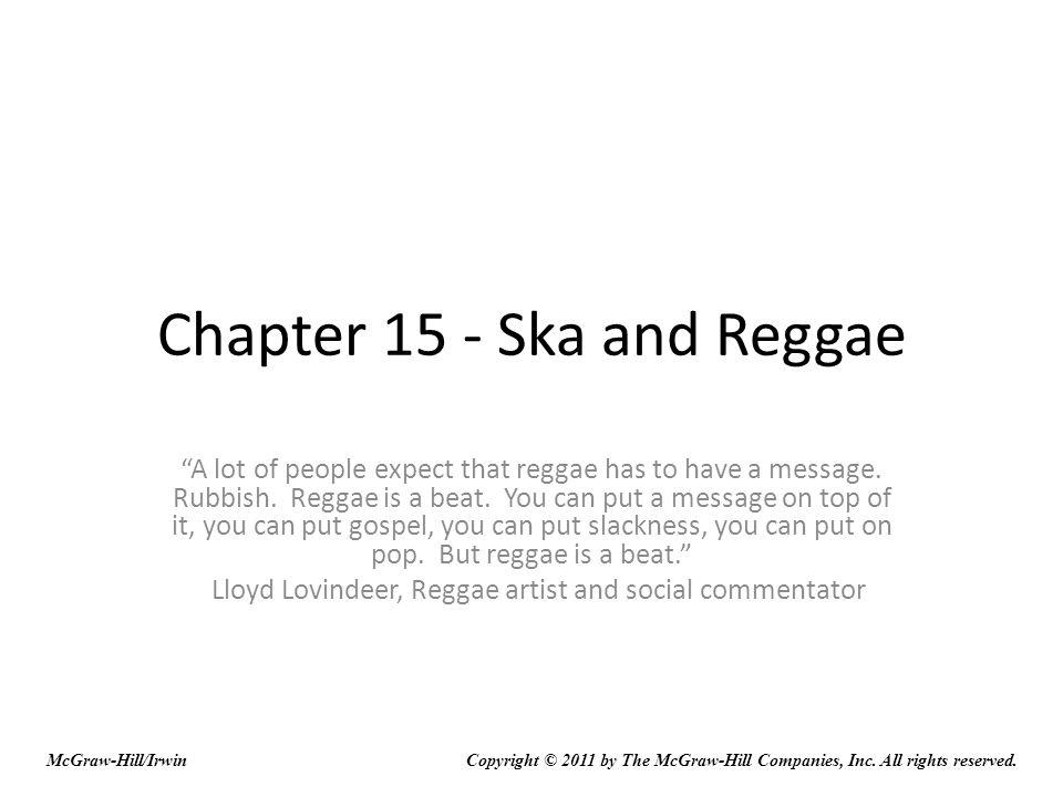 Chapter 15 - Ska and Reggae
