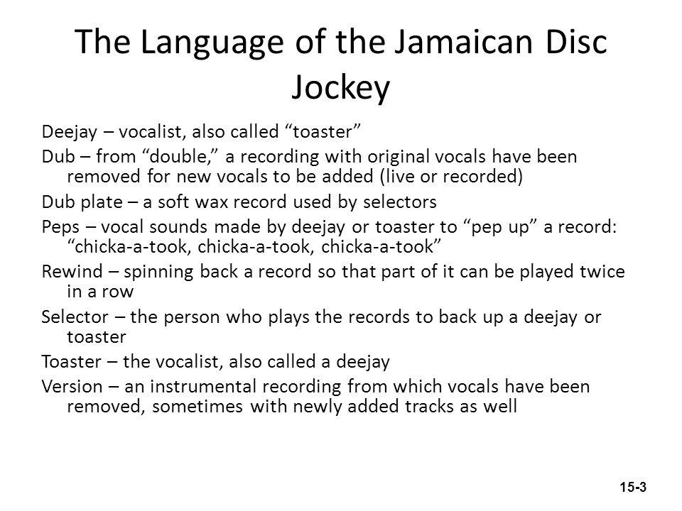 The Language of the Jamaican Disc Jockey