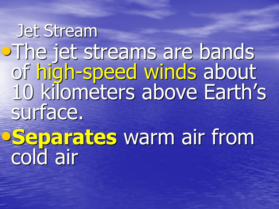 Separates warm air from cold air