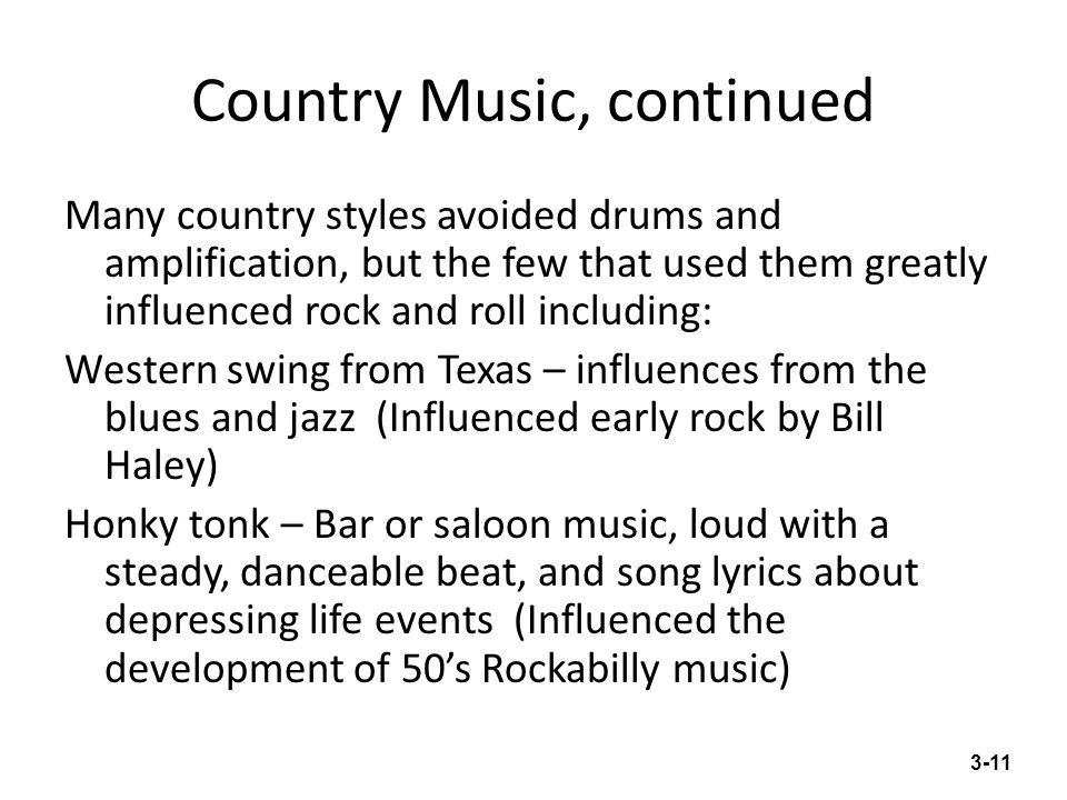 Country Music, continued