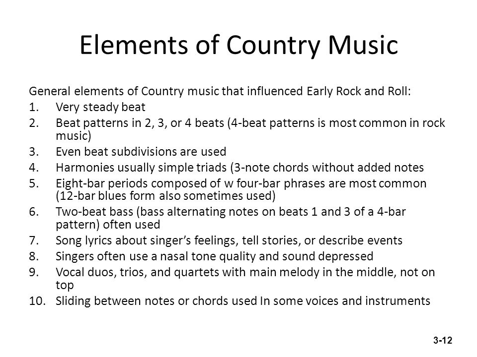 Elements of Country Music