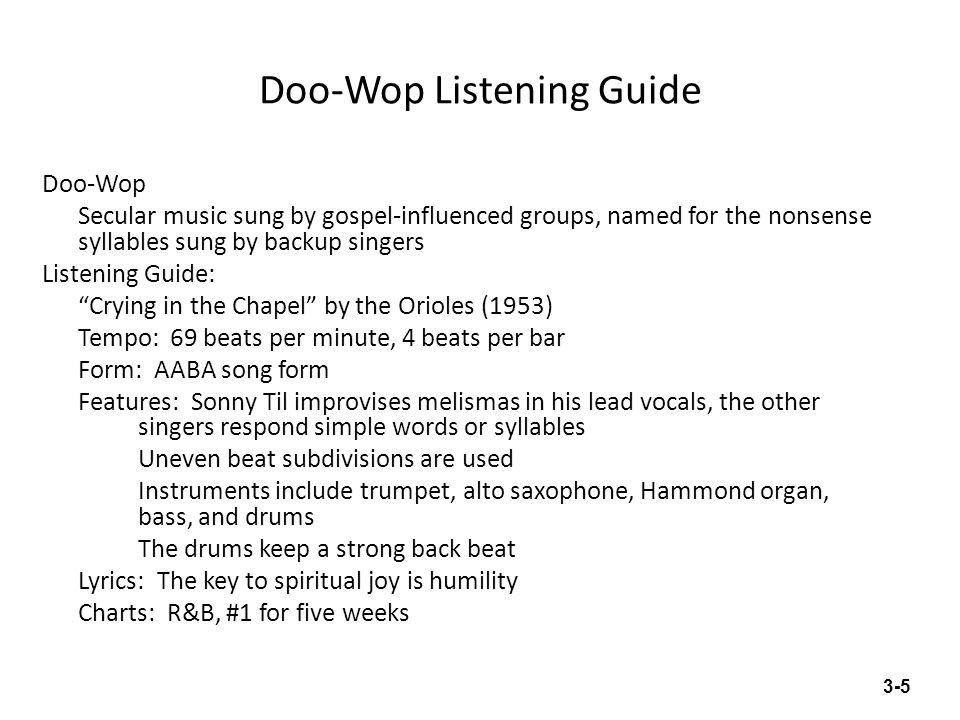 Doo-Wop Listening Guide