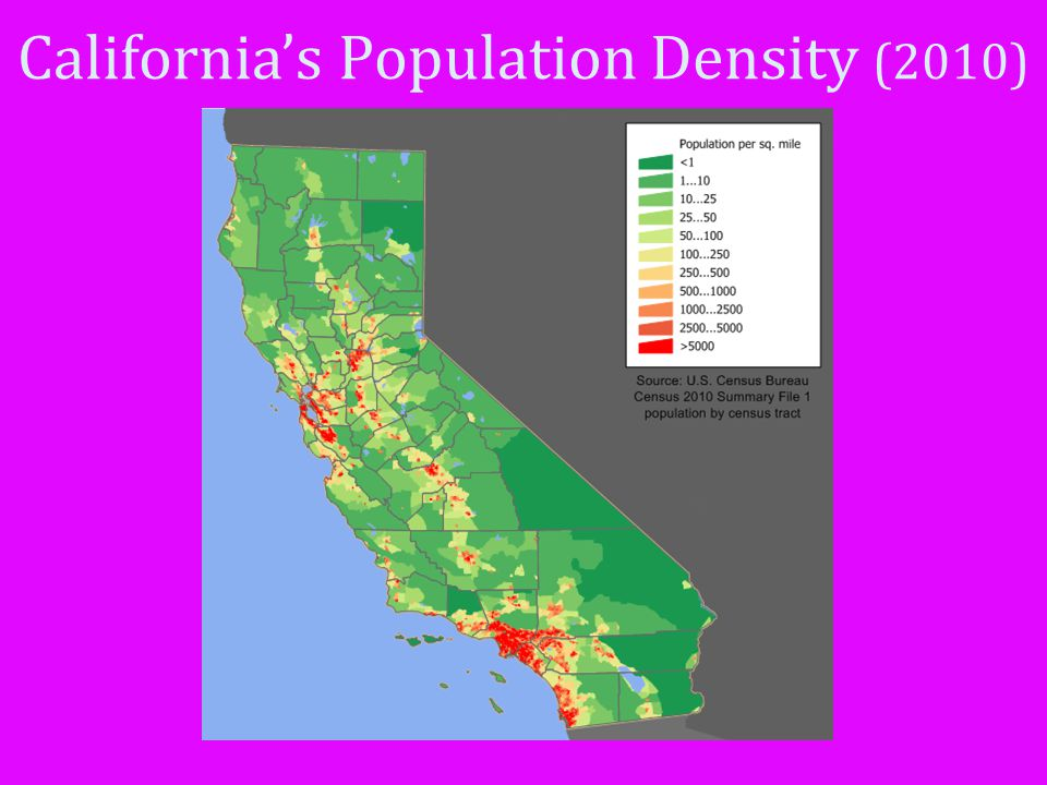 California's Population Density (2010)