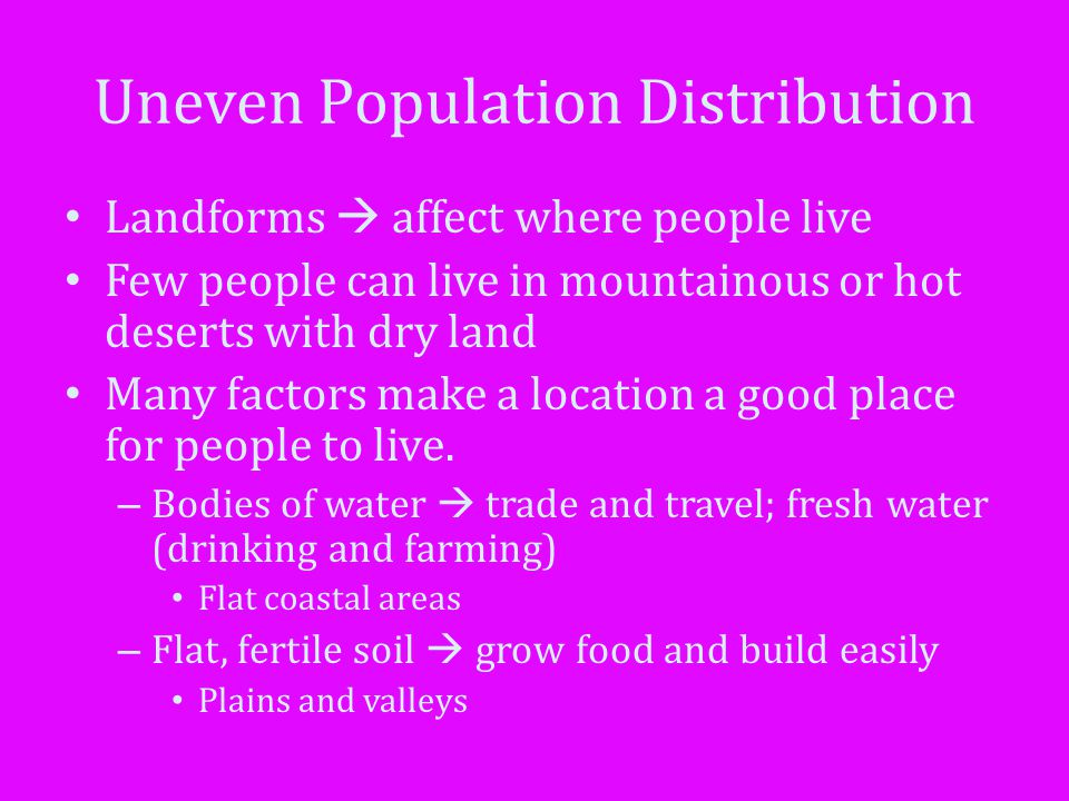 Uneven Population Distribution