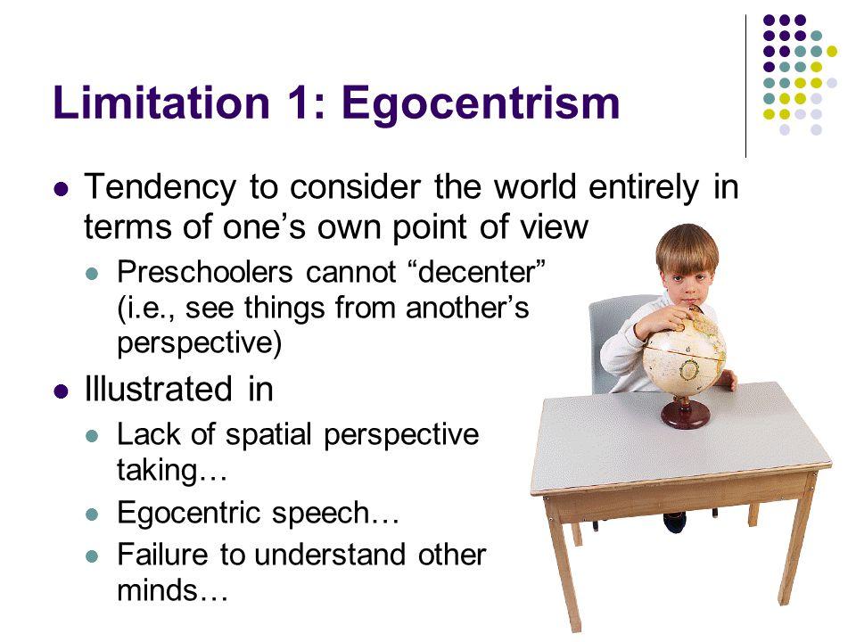 Limitation 1: Egocentrism