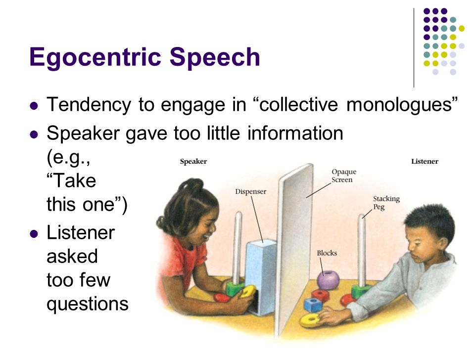 Egocentric Speech Tendency to engage in collective monologues