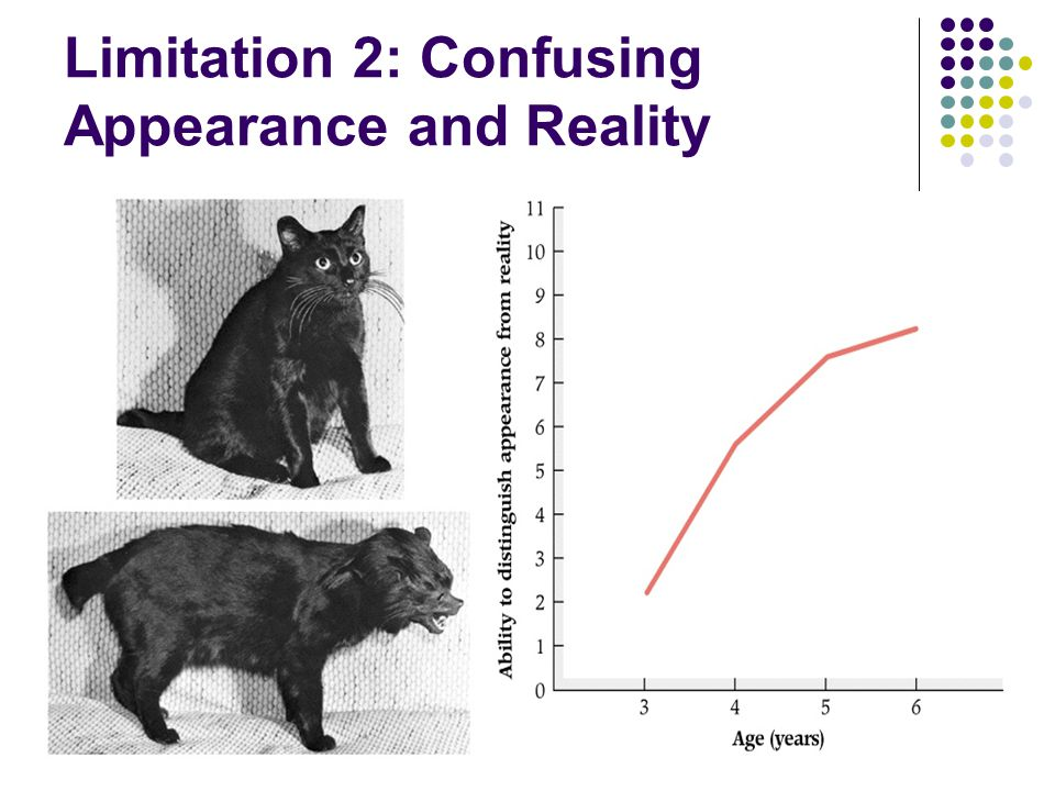 Limitation 2: Confusing Appearance and Reality