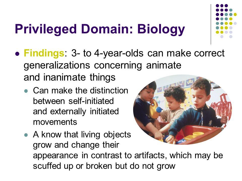 Privileged Domain: Biology