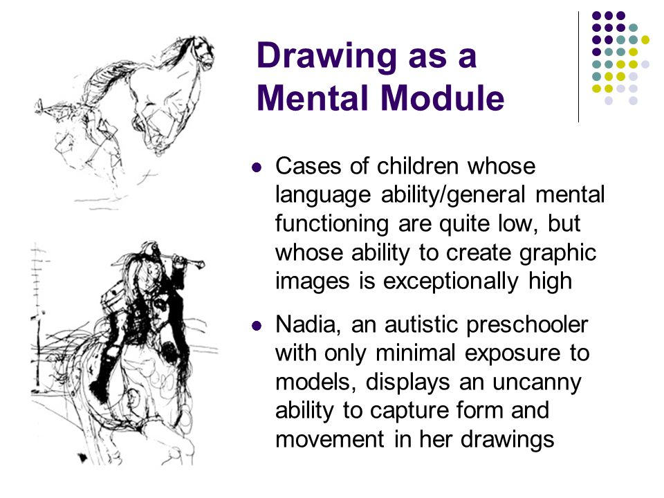 Drawing as a Mental Module