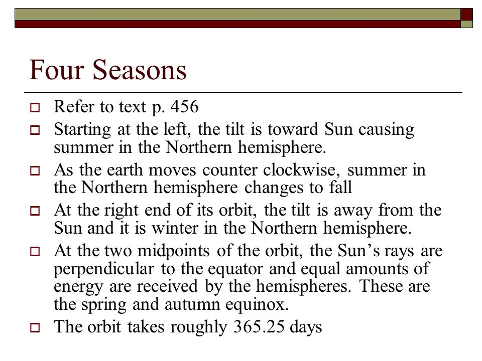 Four Seasons Refer to text p. 456