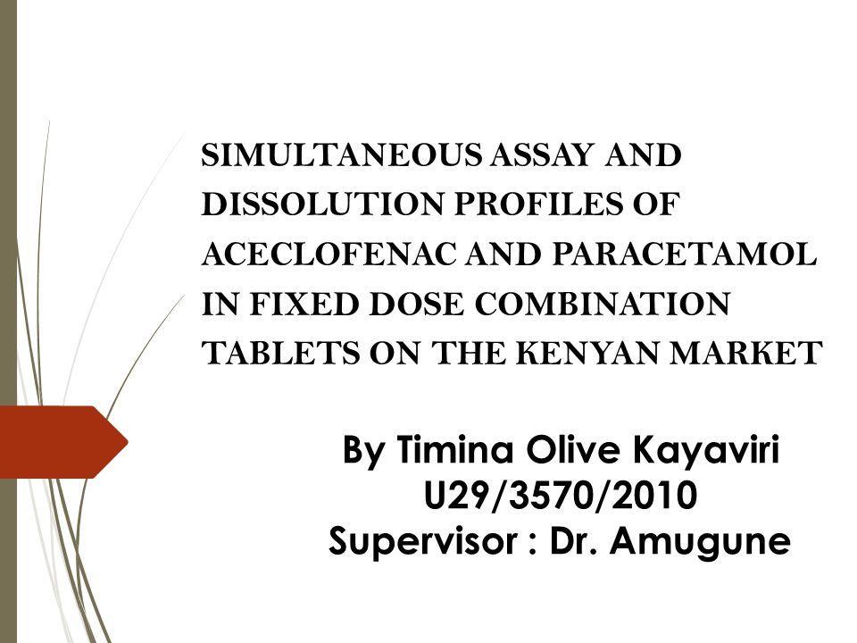 By Timina Olive Kayaviri Supervisor : Dr. Amugune