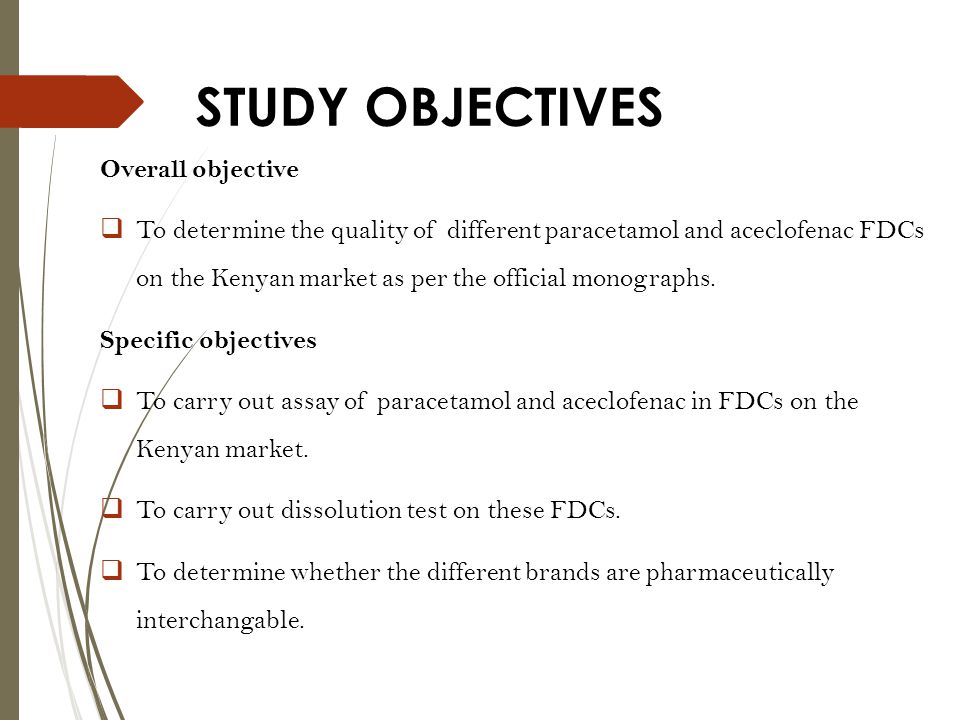 STUDY OBJECTIVES Overall objective